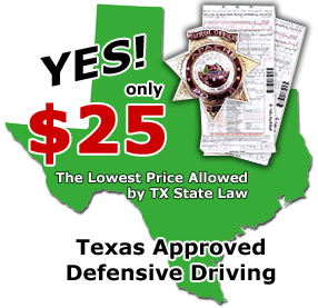 Texas Defensive Driving programs for the best sale price!